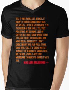 MELBOURNE - SNOB Mens V-Neck T-Shirt
