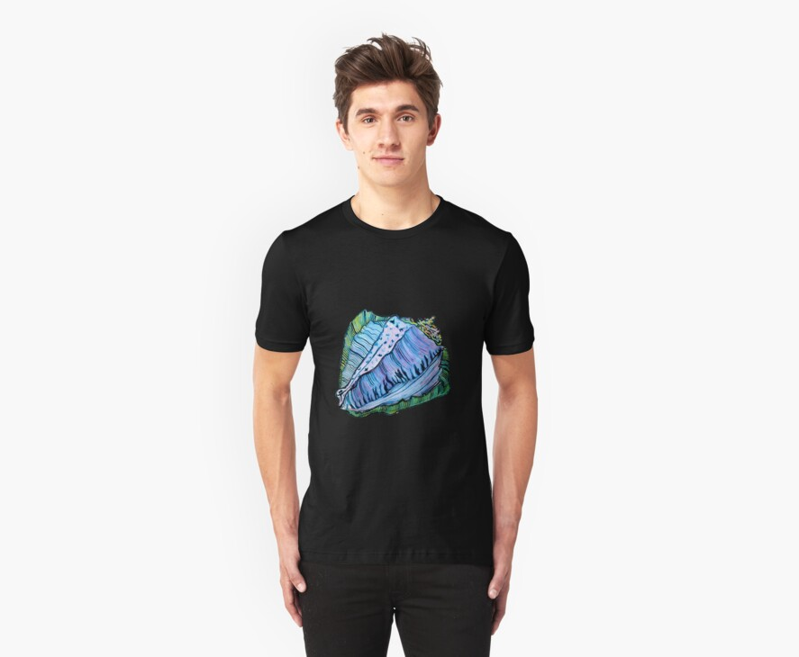 Rainbow Conch Tee by cardiocentric