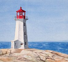 Peggys Cove Lighthouse by Jeno Futo