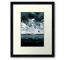 Red Pill Dive Framed Print