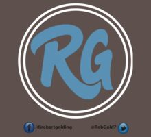 RG Logo with White Circles and Blue Lettering by Robert Golding