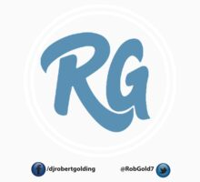 RG Logo with White Circles and Blue Lettering Baby Tee