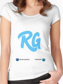 RG Logo with White Circles and Blue Lettering Women's Fitted Scoop T-Shirt