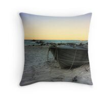Boat in Bunker Bay Throw Pillow