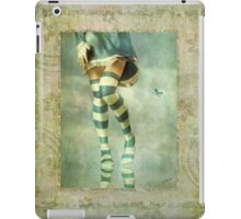 Lovely Girl with Striped Socks iPad Case/Skin