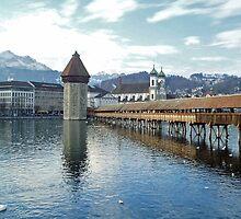 Kapelbruecke - Luzern - Switzerland by Arie Koene