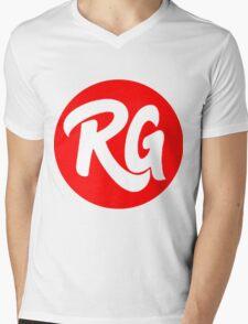 RG Original logo Red Mens V-Neck T-Shirt