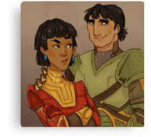 Disney Jaegers - Kuzco and Pacha Canvas Print