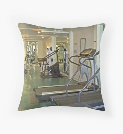 Gym fitness room Throw Pillow