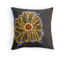 THE WEB OF LIFE Throw Pillow
