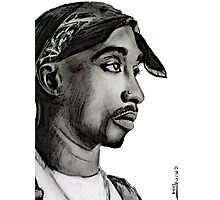Tupac drawing Photographic Print