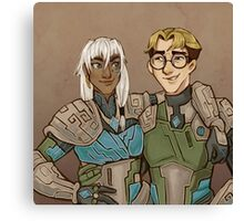 Disney Jaegers - Kida and Milo Canvas Print