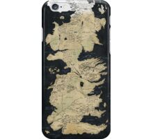 game of thrones-westeros map iPhone Case/Skin