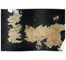game of thrones-westeros map Poster
