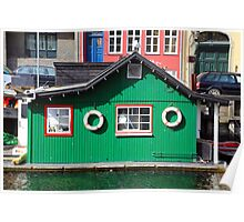 Copenhagen. The Green House on Water Poster