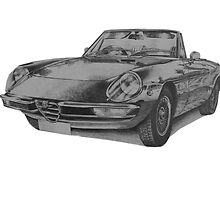 Alfa Romeo Spider by BSIllustration