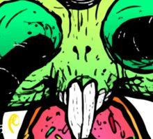 Hungry Bunny Skull Sticker