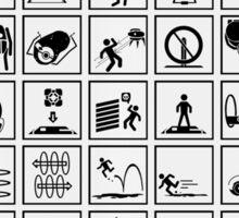 Portal Test Chambers Signs Sticker