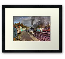The Train Arriving - Grosmont North Yorkshire Framed Print