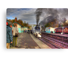 The Train Arriving - Grosmont North Yorkshire Canvas Print