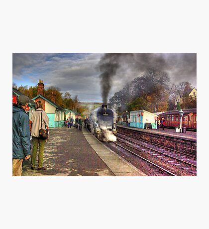 The Train Arriving - Grosmont North Yorkshire Photographic Print