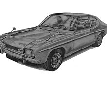 Ford Capri Mk1 GT by BSIllustration