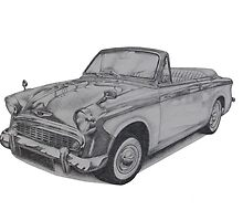 Hillman Minx S2 Convertible by BSIllustration
