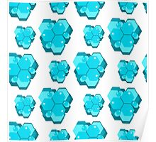 geometric seamless pattern with hexagons-4 Poster