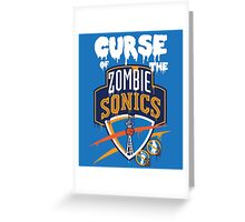 The Curse of Zombie Sonics!! Greeting Card