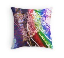 Rainbow Web Throw Pillow