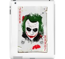 The Joker Card iPad Case/Skin