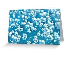 Blue Water Bubble Greeting Card
