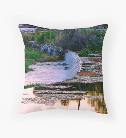 """""""Evening at Baum Weir"""" Throw Pillow"""