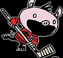 Stormy the Hockey Pig by paulfriedrich