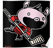 Stormy the Hockey Pig Poster