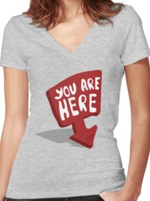 You are here Women's Fitted V-Neck T-Shirt
