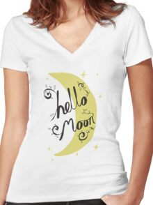Hello Moon Women's Fitted V-Neck T-Shirt