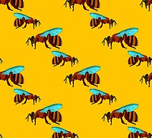 seamless pattern with bees by Ann-Julia