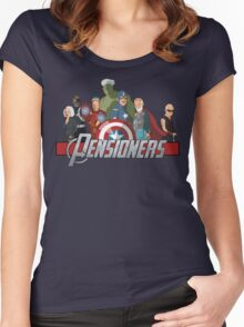 The Pensioners Assemble! Women's Fitted Scoop T-Shirt