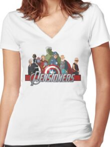 The Pensioners Assemble! Women's Fitted V-Neck T-Shirt