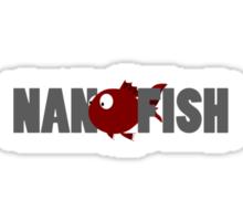 Nanofish Logo and Text Sticker