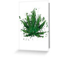 WEED LEAF Greeting Card
