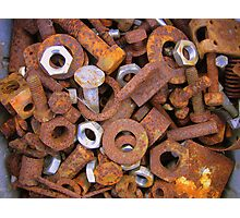 Rusty bits and pieces. Photographic Print