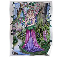 Flower forest fairy faerie Poster