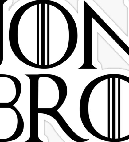Jon Bro Sticker