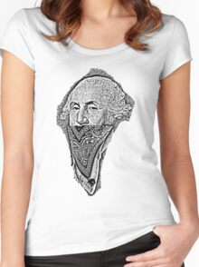 gangster george washington Women's Fitted Scoop T-Shirt