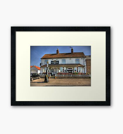 Old Black Bull Inn - Raskelf near York Framed Print