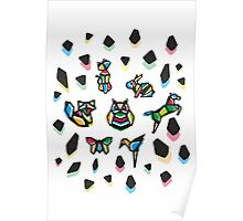 Rainbow Anigami Central Composition Poster