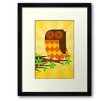 OWLT ON A LIMB Framed Print