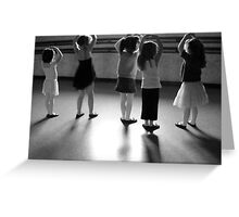 BALLET LESSON Greeting Card